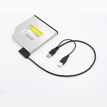 Slimline Slim SATA Cable USB 2.0 to 7+6 External Power For Laptop SATA Adapter Converter Support Window xp/7/8/10 Mac OS EM88