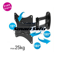 FREE SHIPPING ARTICULATING LCD LED TV WALL MOUNT BRACKET FULL MOTION SWIVEL 23 24 28 32