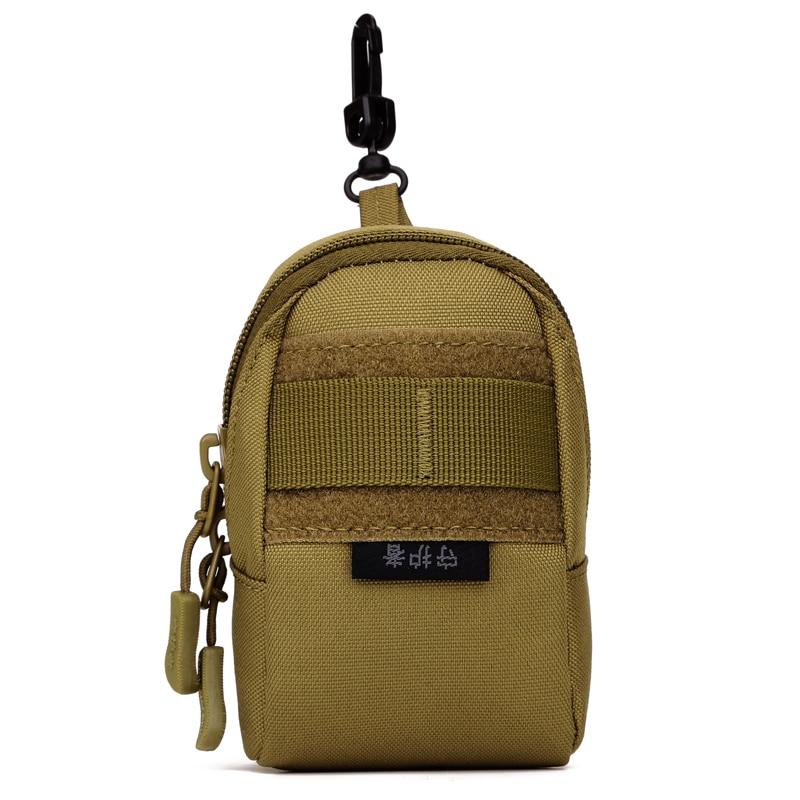 Military Assault Molle Nylon Bag High Quality Men Small Waist Bags Cell/Mobile Phone Camera Cigarette Case Hook Belt Fanny Pack