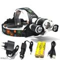 8000 Lumens Headlight XM-L T6 2R5 LED Head Light 4 Modes Zoom Adjust Focus Headlamp Lantern Hunting Head Flashlight
