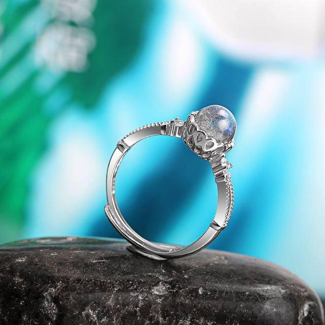Adjustable Ring - Labradorite - S925 4