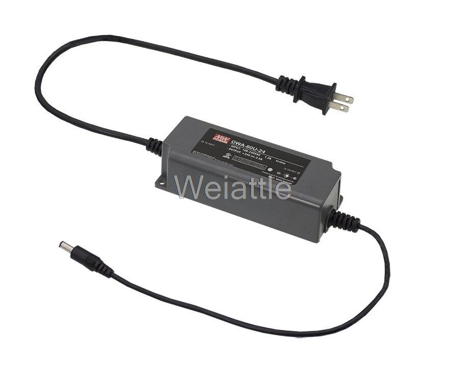 MEAN WELL original OWA-60U-30 30V 2A  OWA-60U 30V 60W Single Output Moistureproof Adaptor USA type Waterproof IP65