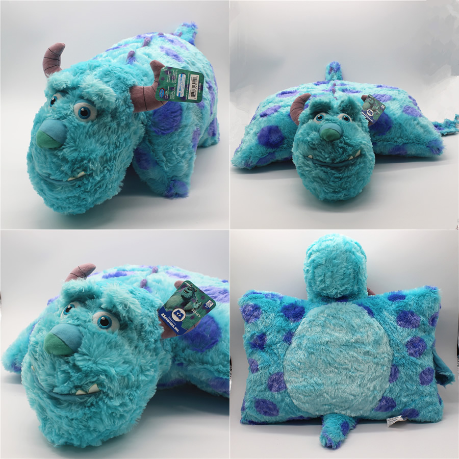 Free shipping Monsters University Plush Pillow Toy 50cm Sulley Sullivan Monsters Inc Soft Cushion Doll for birthday gift 2016new brand cartoon beanie monsters sulley mike inc sullivan sully plush hat cute cap soft kid toy birthday gift for children