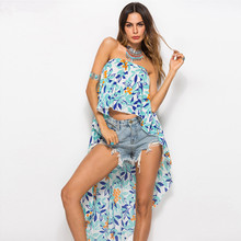 Flower Print Bikini Beach Cover Up Tunics for Beach Long Kaftan Bikini Cover Up Robe De Plage Sarong Beach Swimsuit Cover-ups все цены