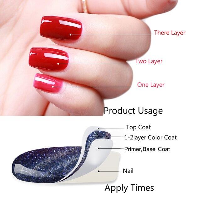беспроигрышный цветной лак для ногтей гель 7 мл уф гель чистый фотография