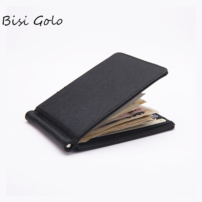 BISI GORO New Wallet Mens Bags Card Package Wallet Mens PU Leather Card Holder Case Wallet Dollar Purse Credit Card Holder