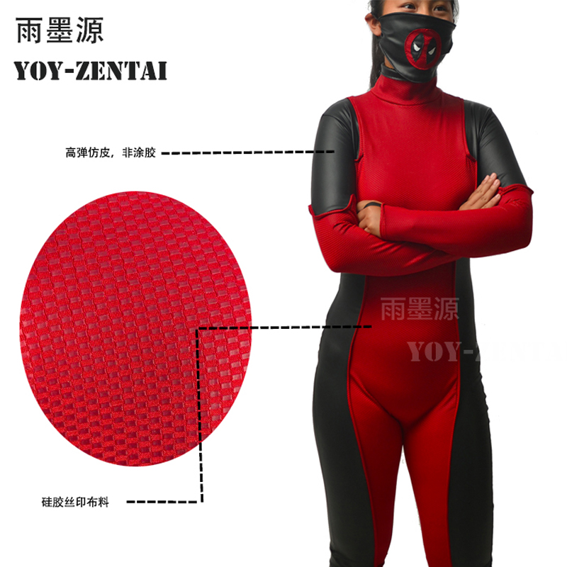 High Quality New Gwenpool Cosplay Costume For Halloween Party She Deadpool Fullbody Costume With Mask She-deadpool Outfit