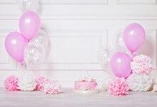 Cenários de fotografia fundo aniversário fundo flor rosa balões de aniversário decorações photo studio fundo XT-6668