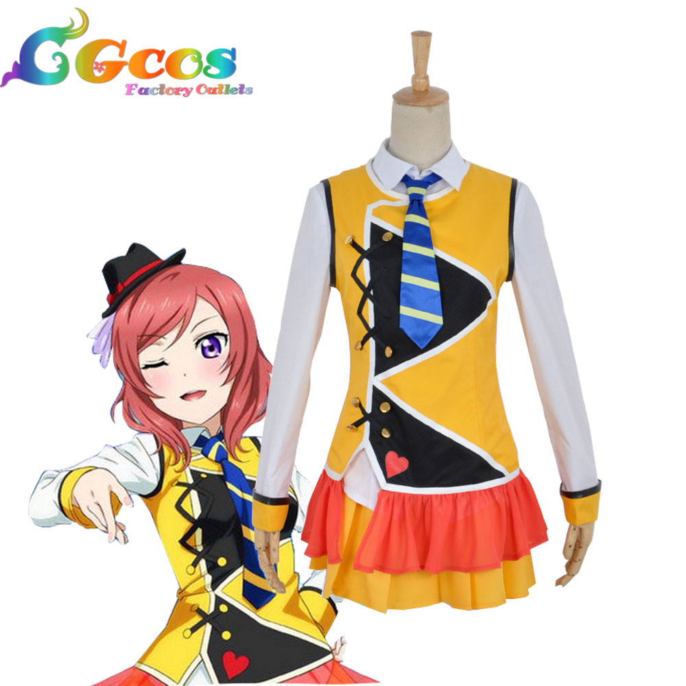 CGCOS Free Shipping Cosplay Costume Love Live Maki Nishikino New in Stock Retail / Wholesale Halloween Christmas Party Uniform