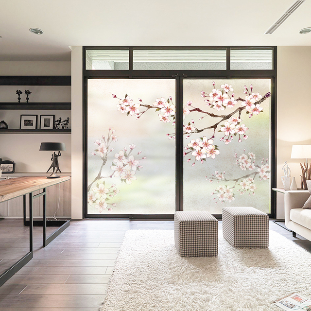 Study windows glass frosted film stickers translucent opaque floor windows shading decorative window paper window stickers