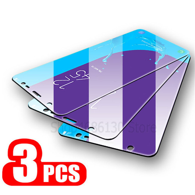 3Pcs Protective Glass for Samsung Galaxy A7 A9 2018 J6 A6 A8 J4 Plus Screen Protector 2.5D Tempered Glass for Samsung J6 J4 2018