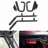 Matte Black Front Rear Grab Handle Bar Kit For 07 17 Jeep Wrangler JK Sahara Sport