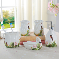 European Garden creative ceramic five piece bathroom suite bathroom products, wedding Wedding Suit wash