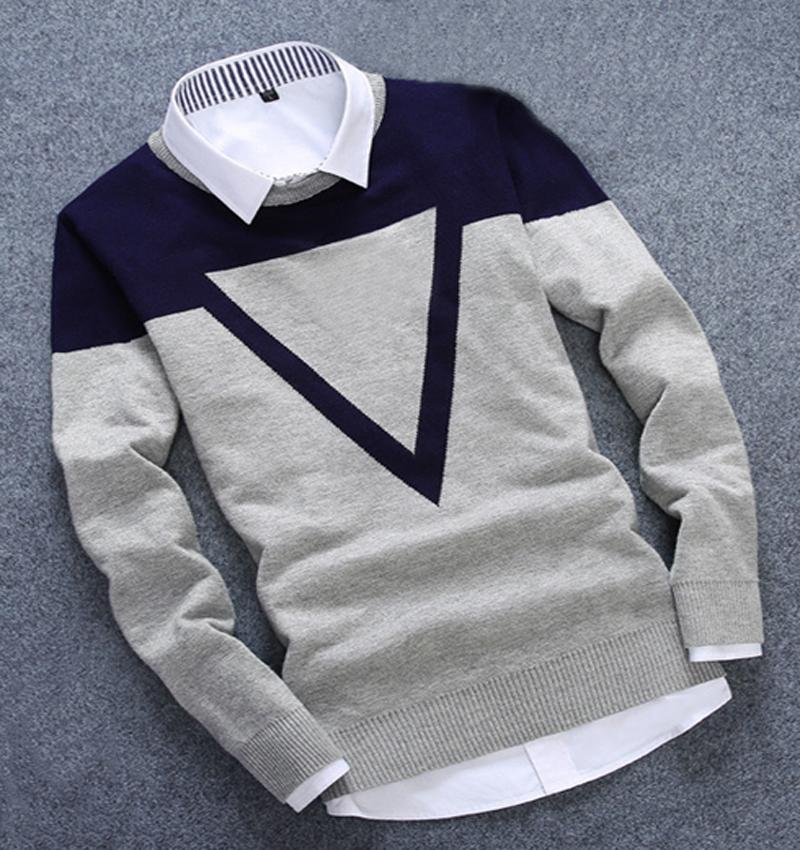Neue Design 3 Colos Mode Mann Pullover Männer Casual Baumwolle - Herrenbekleidung - Foto 3