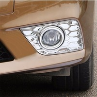 Automobile Car Styling Accessories Chromium 2012 16 Refit Front Fog Lamp Frame Protection Decorative Plating FOR