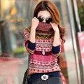 Otoño e invierno 2015 nueva moda del espesamiento femenino suéter básico de cachemira de cuello alto mujer sweater