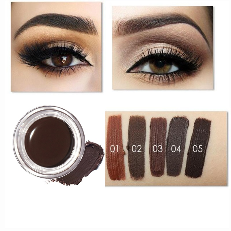 New Professional Eye Brow Tint Makeup Tool Kit Waterproof Pigment Brown Eyebrow Gel 8 Colors Factories And Mines Beauty Essentials