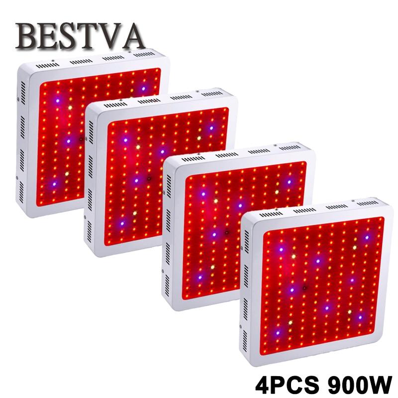 4PCS USA/DE/AU/UK  Stock 3 Year Warranty Bestva 900W Full Spectrum IR,UV LED grow light for Indoor Plants and Flower Phrase 1 year warranty in stock 100