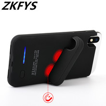 ZKFYS 4000mAh Magnetic Ultra Thin Fast Charger Battery Case For iphone X XS Portable High Quality Power Bank Cover