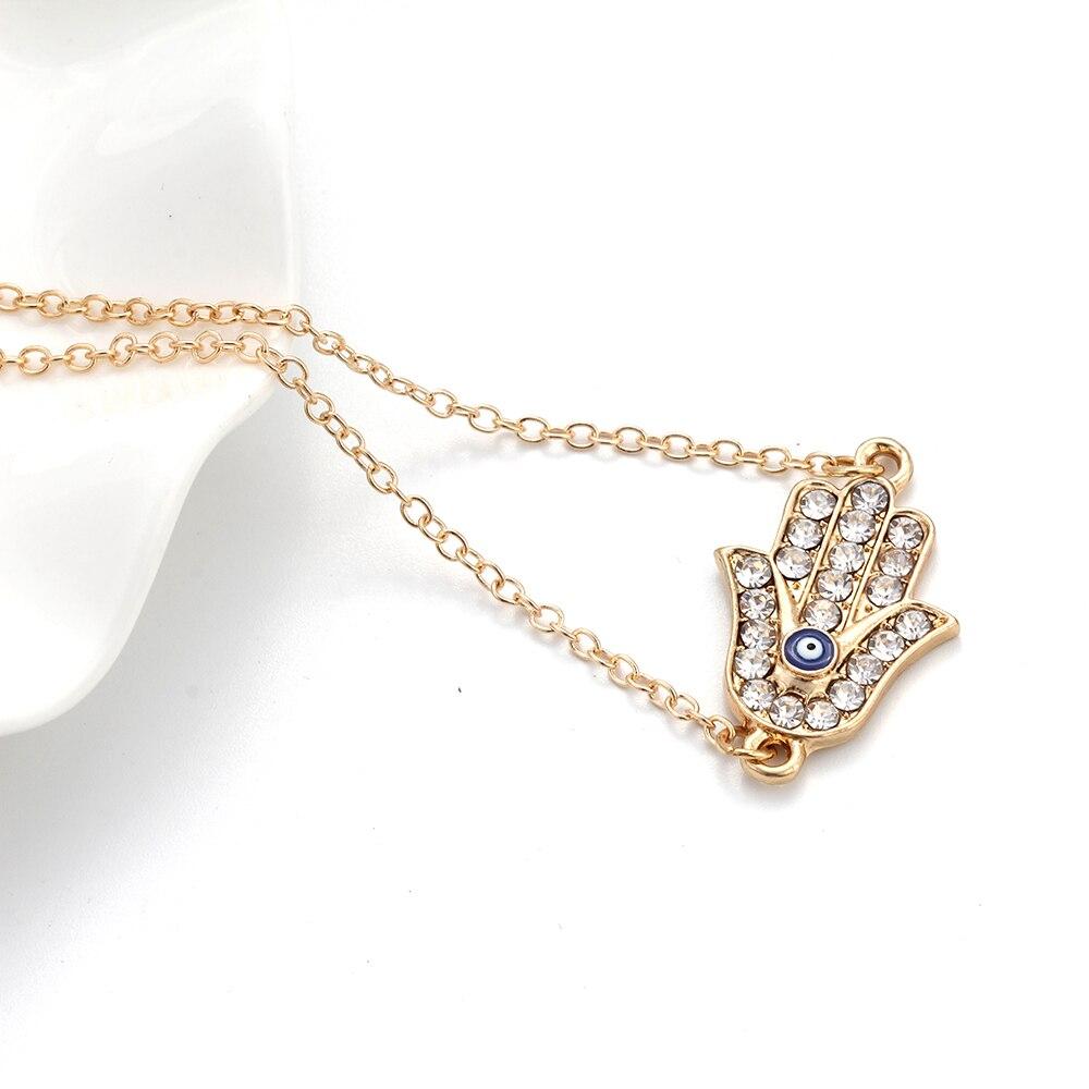 """Mauvais oeil Argent Sterling 925 Bracelet Avec Labo Diamants//7/"""" Homard serrure fermeture"""
