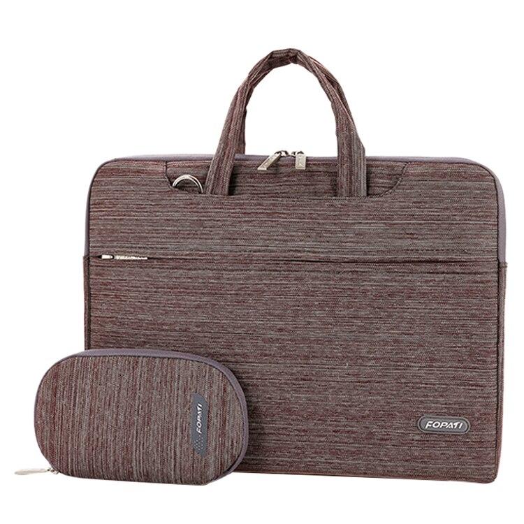 15 inch Laptop Bag Notebook Shoulder Messenger Bag Men Women Handbag Sleeve (Suit Brown)