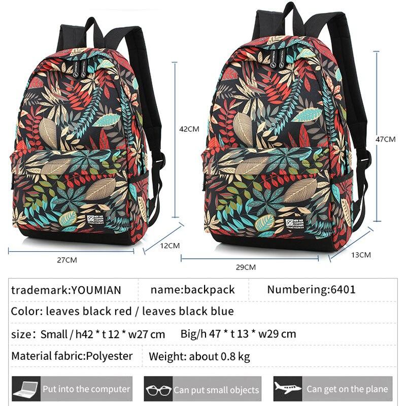 Image 2 - New big bag female travel school bag student bag backpack  printing waterproof  youth  boy girl childrens school bags  teenagerBackpacks