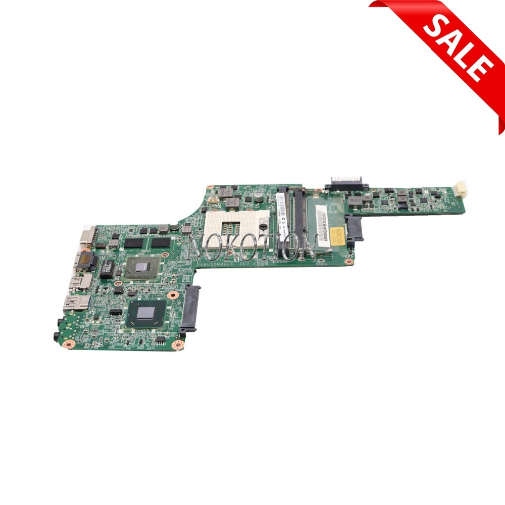 NOKOTION DABU5DMB8E0 REV E A000095810 For toshiba satellite L730 laptop motherboard HM65 graphics DDR3 mainboard a000080830 da0blemb6e0 rev e for toshiba satellite l750d l755 l755d laptop motherboard e350 ddr3
