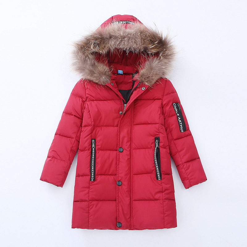 2018 new children's clothing boy winter thickening in the long section of cotton clothing children children's cotton jacket 2017 winter in the long section of the cotton men korean version of the loose hong wind thickening of large yards of clothing