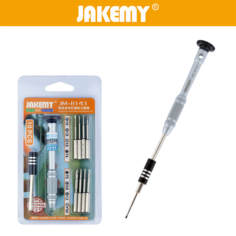JAKEMY 10 in 1 Precision Magnetic Screwdriver Set Bits Screw Drivers For IPhone 6 5 5s Ipad Phone Repair Hand Tool Set in Hand Tool Sets from Tools