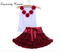 S C Children Clothes Summer Kids Girls Clothes Set T Shirt Tutu Skirt Outfits Girl Suit