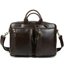 Aolen 2016 HOT Genuine Leather Business Bag Laptop Briefcase Man Bags Men's Handbags with Briefcase Dress Male Bag Vintage Retro