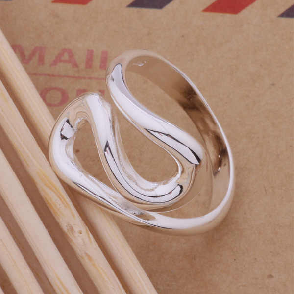 Fashion Silver Jewelry Exquisite Ring Irragular Geometric Rings For Women Men AR219