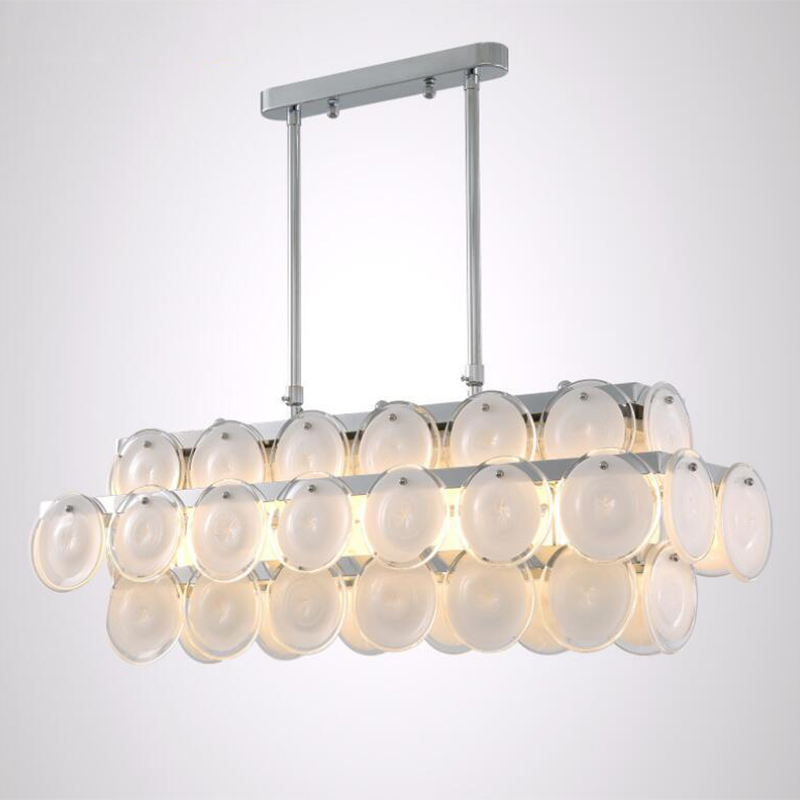 Jmmxiuz New Rectangular Pendant Lights Modern Lamp Ac110v: Jmmxiuz Luxury Modern Chandelier Glass Lighting For Dining
