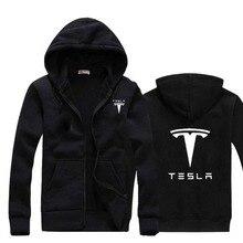 Фотография  2017 New Brand Tesla Men Hoodies Long Sleeve Ringer Letter Printed sweatshirt mens casual hoodies sportswear hooded