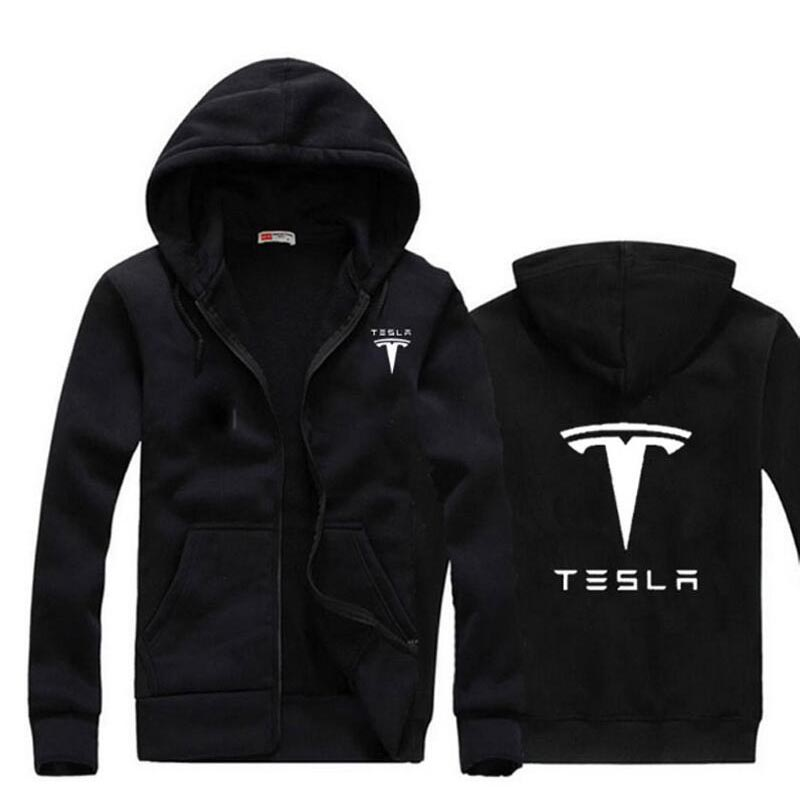 2017 New Brand Tesla Men Hoodies Long Sleeve Ringer Letter Printed Sweatshirt Mens Casual Hoodies Sportswear Hooded