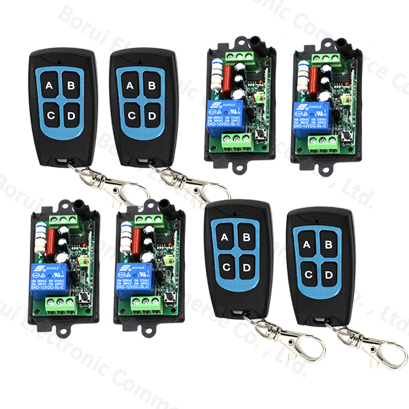 ФОТО AC 220V 110V RF wireless remote control switch radio switch teleswitch 1CH Receiver + 4CH Transmitter 315MHZ / 433MHZ