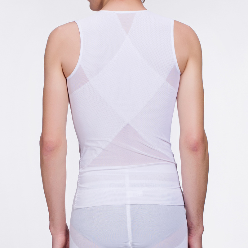 Breathable Mesh Elastic Neoprene Slimming Vest Men Fat Burning Weight Loss Fast Mens Body Waist Trainer Stomach Slimming Corset