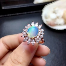 shilovem 925 sterling silver Natural opal Rings fine Jewelry  women trendy wedding  bands new open wholesale mj0810ago shilovem 925 sterling silver natural opal rings fine jewelry women trendy wedding open new wholesale gift mj0810111ago