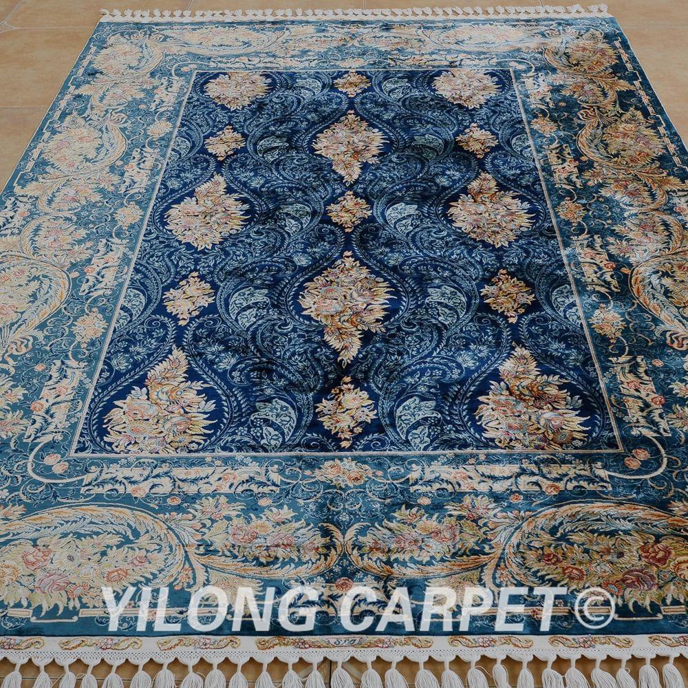 Yilong 5.6'x8 'Αντίκα χειροποίητο περσικό - Αρχική υφάσματα - Φωτογραφία 2