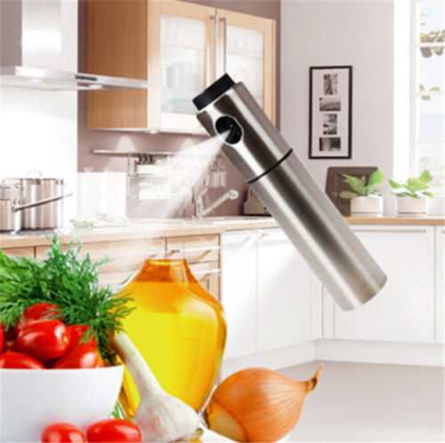 Brand New Oil Pump Spray Bottle Olive Can Tool Pot Cooking Stainless Steel BBQ Tool Kitchen Tools image