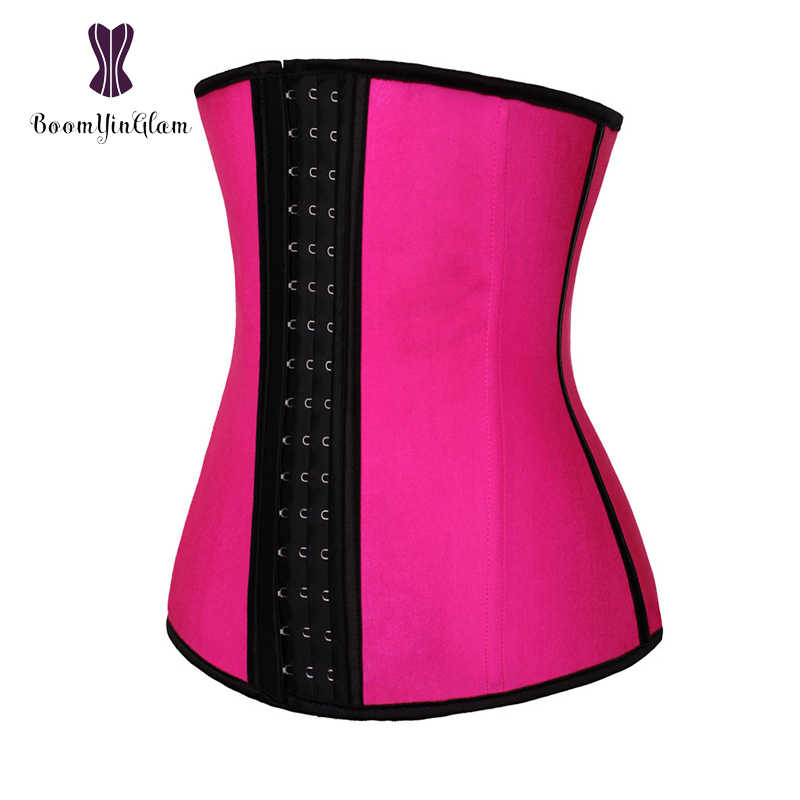 1d3dc2fb480 3 hooks waist cincher shaper 4 steel boned corset body shapewear girdle  belt latex waist trainer