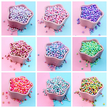 Happy Monkey20g/pack 6mm Slime Supplies  Toys DIY Plastic Pearl Beads Slime Accessories Filler For Fluffy Clear Crystal Slime
