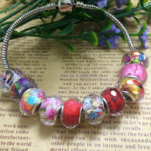 Free shipping 100pcs/lot 14MM Multi-Faceted Big Hole Loose Beads Fit European Jewelry Bracelet Charms DIY