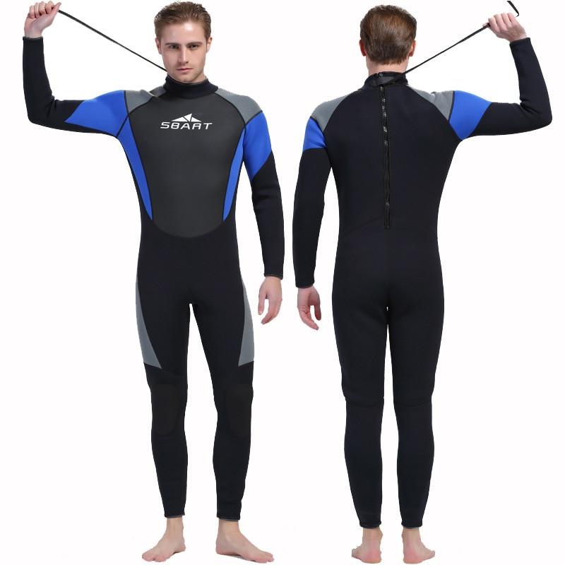 SBART Men 3mm Neoprene Wetsuit Winter Thermal Summer Sun Protection One-piece Suit for Scuba Diving Spearfishing Snorkel sbart upf50 806 hongyulin