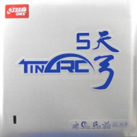 Free Shipping DHS TinArc5 Super Elasticity Non Tacky Red Pips In Table Tennis Ping Pong Rubber