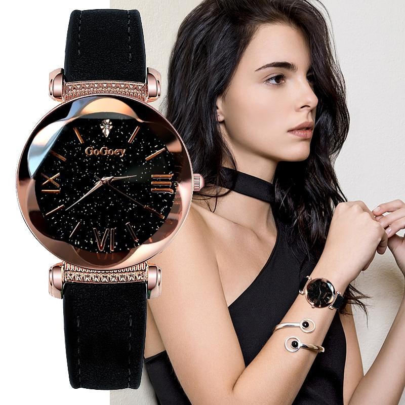 Gogoey zegarki damskie 2019 luksusowe panie zegarek Starry Sky zegarki dla kobiet moda seks kol saati diament Reloj Mujer 2019 1
