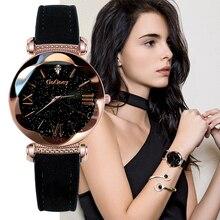 Gogoey женские часы 2019 роскошные женские часы Звездное небо часы для женщин Мода bayan kol saati алмаз Reloj Mujer 2019