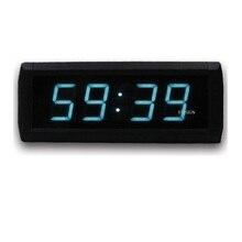 2aeed1c8394 Cor azul Moderno Relógio de Parede Digital Grande Led Relógio de Contagem  Regressiva 12 24