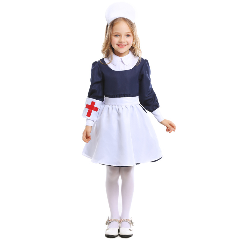 Child Kids Doctor Nurse Outfit Costume Halloween Party Role Play Fancy Dress Up
