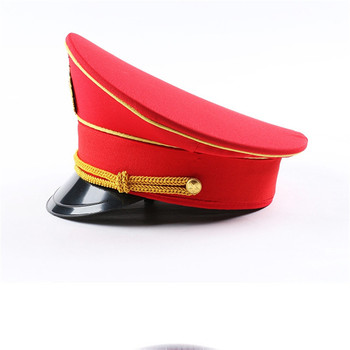leather captain hat naval caps military hats wide brim army Visor cap cospaly Halloween Christmas gift festival New year men visor cap security guard hat army caps men military police hats for cosplay halloween christmas festival gift